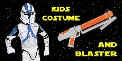 Child Clone Trooper Costume and Blaster Bundle
