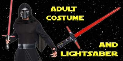 Deluxe Kylo Ren Costume and Lightsaber Bundle