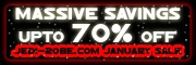 Massive January Sale of Star Wars Costumes and Toys upto 70% OFF
