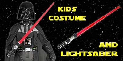 Child Deluxe Darth Vader Costume and Lightsaber Bundle
