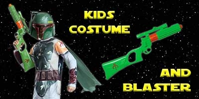 Child Boba Fett Costume and Blaster Bundle