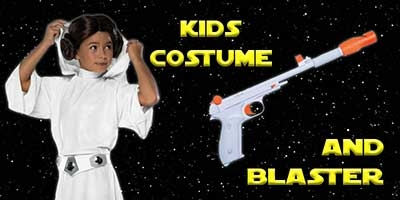 Child Princess Leia Costume and Blaster Bundle