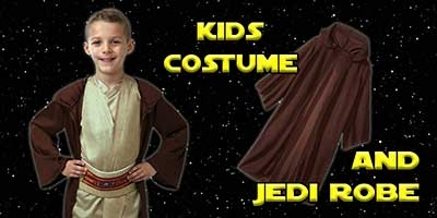 Child Jedi Knight Costume and Robe Bundle