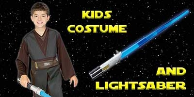 Child Anankin Skywalker Costume and Lightsaber Bundle
