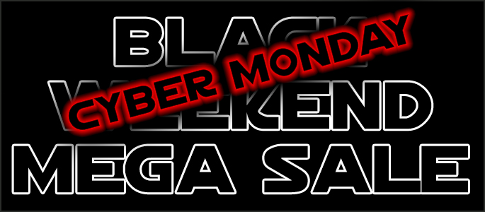 Jedi-Robe.com Black Friday Cyber Monday Black Weekend Mega Sale NOW ON - Click here for more....