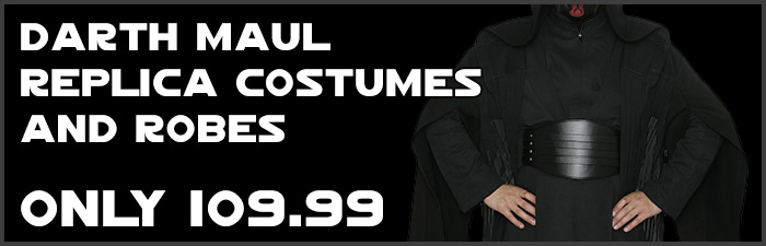Star Wars Darth Maul Replica Costumes available at www.Jedi-Robe.com - The Star Wars Shop