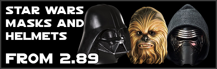 Star Wars Masks and Helmets available at www.Jedi-Robe.com - The Star Wars Shop