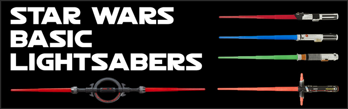 Star Wars Basic Lightsabers available at www.Jedi-Robe.com - The Star Wars Shop....