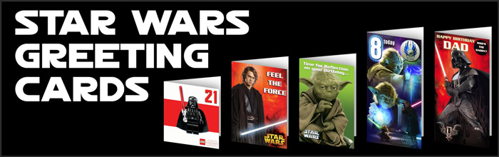Star Wars Greeting Cards available at www.Jedi-Robe.com - The Star Wars Shop....
