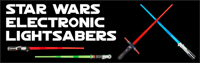 Star Wars Electronic Lightsabers available at www.Jedi-Robe.com - The Star Wars Shop....