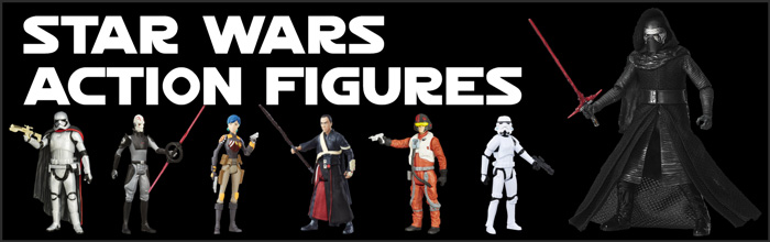 Star Wars Action Figures available at www.Jedi-Robe.com - The Star Wars Shop....