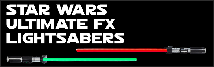 Star Wars Ultimate FX Lightsabers available at www.Jedi-Robe.com - The Star Wars Shop....