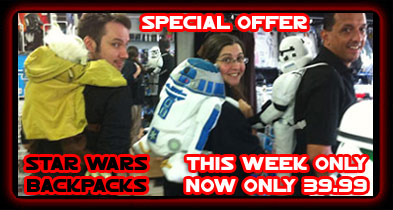 STAR WARS BACKPACK OFFER THIS WEEK ONLY