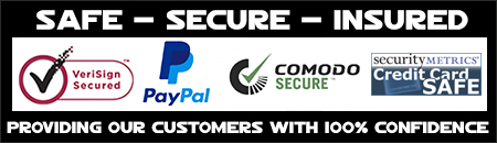 Secure Payment through VeriSign Secured, Paypal, Comodo Secure and SecurityMetrics