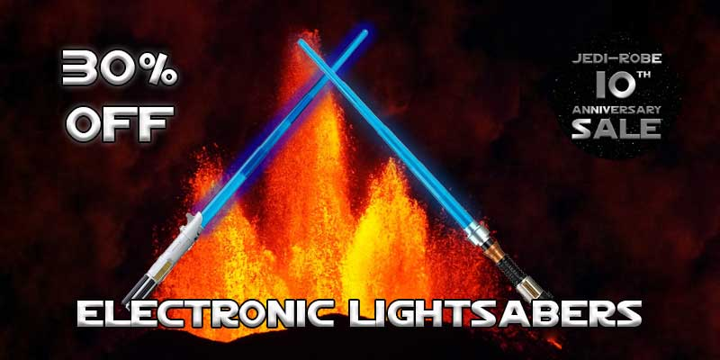 Star Wars Electronic Lightsabers 30% off sale