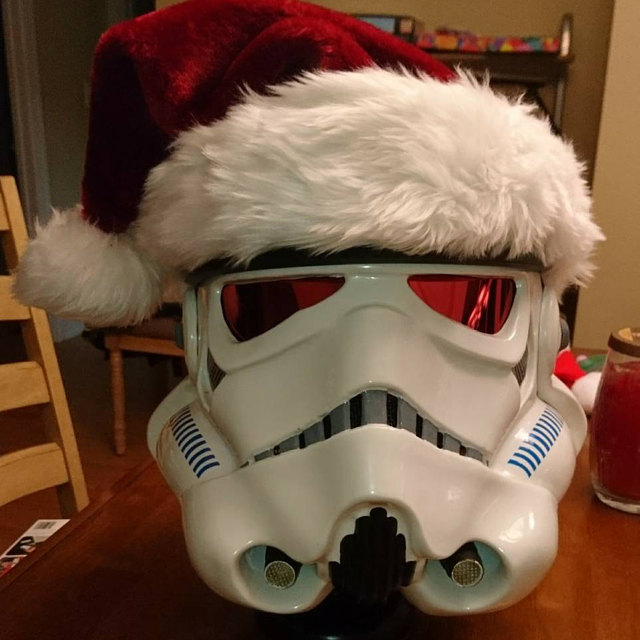 Santa Stormtrooper with Red Lenses