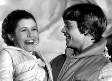 Hamill and Fisher share a light-hearted moment