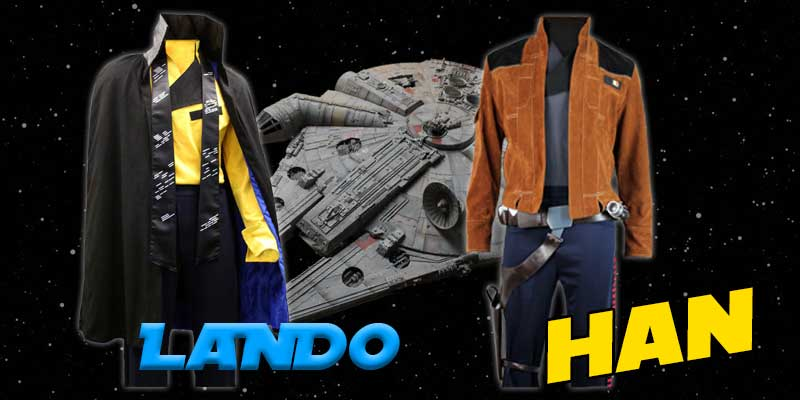 Lando Calrissian and Han Solo cosutmes from Jedi-Robe