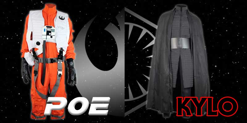 Poe Dameron and Kylo Ren costumes from Jedi-Robe