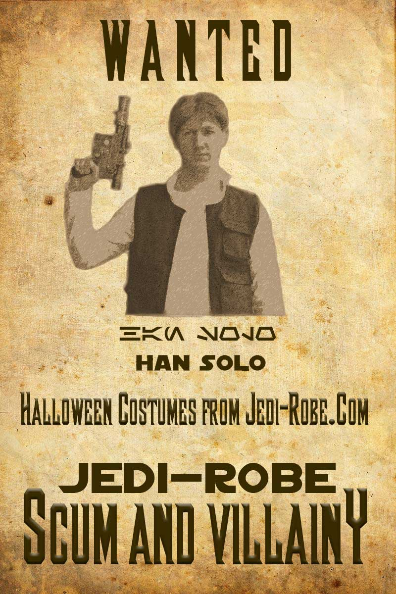 Star Wars Han Solo Halloween Costumes from Jedi-Robe.com