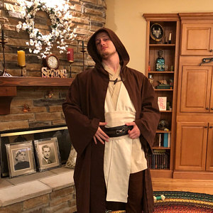 Dark Brown Jedi Robe Customer feedback and review from Susan