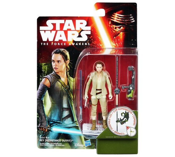 Star Wars Action Figure - The Force Awakens - Jungle Space - Rey Resistance Outfit