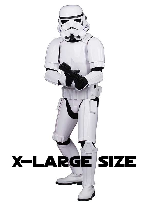 Star Wars Stormtrooper Costume Armour Complete Package - Ready to Wear - XL EXTENDED SIZE