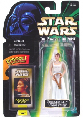 Star Wars Action Figure - Princess Leia in Ceremonial Dress with Medal of Honor - EP1 FlashBack Photo