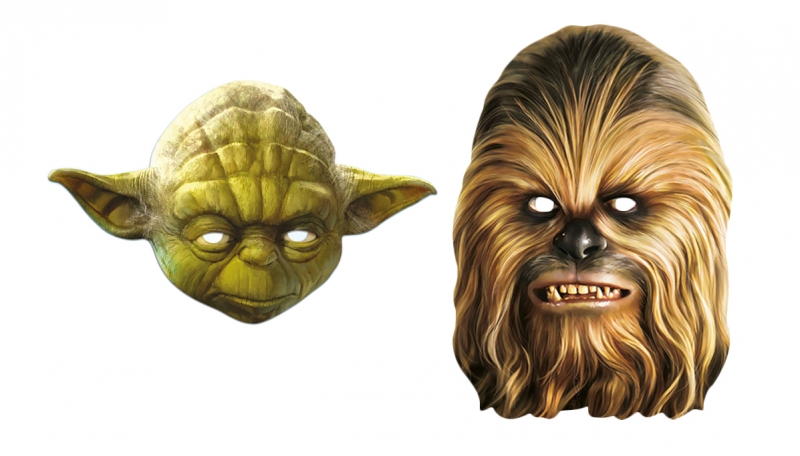 Star Wars MASKS - Character Mask Party Pack 13 - 1 x Yoda - 1 x Chewbacca