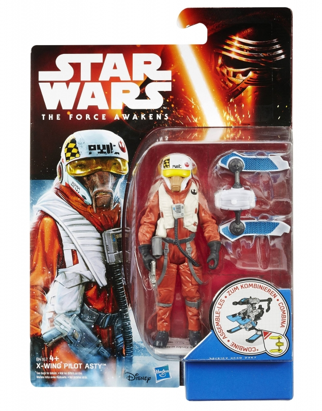 Star Wars Action Figure - The Force Awakens - Snow Desert - X-Wing Pilot Asty