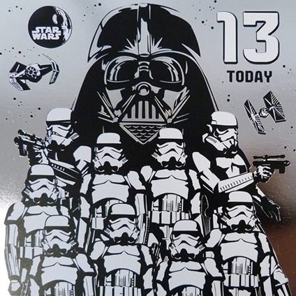 Star Wars Greeting Cards - 160 x 160 mm - Star Wars - Age 13 - Blank Inside - SW534