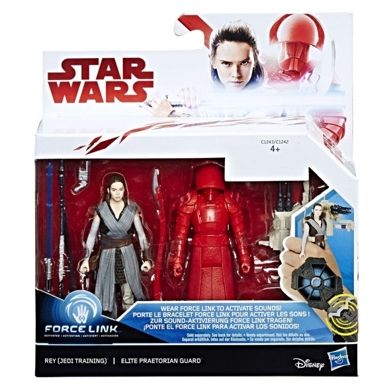 Star Wars Action Figure - Rey (Jedi Training) and Elite Praetorian Guard - The Last Jedi