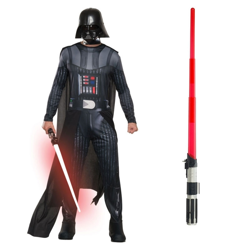 Star Wars Costume Adult Lightsaber Bundle - Basic Darth Vader