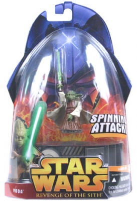 Star Wars Action Figure - Yoda (Spinning Attack)