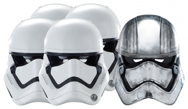 Star Wars MASKS - Character Mask Party Pack 7 - 4 x First Order Stormtrooper - 1 x Captain Phasma