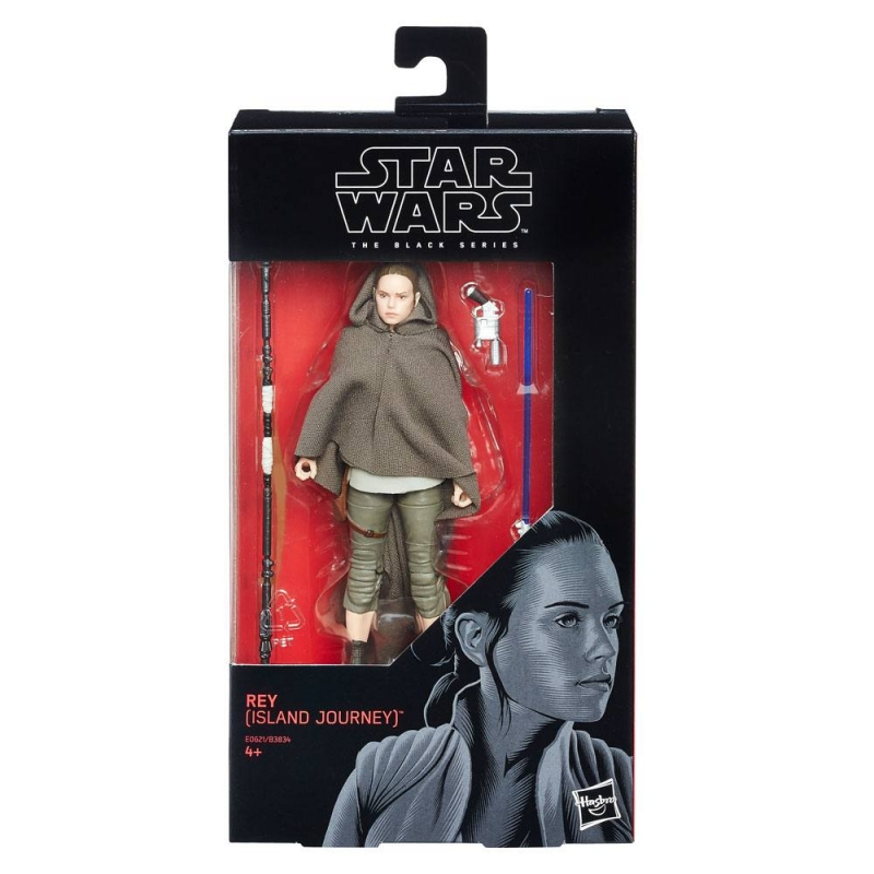 Star Wars 6 inch Figure - The Last Jedi Black Series - Rey (Island Journey)