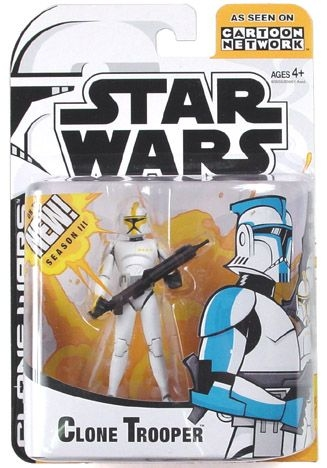 Star Wars Action Figure - Clone Wars - Clone Trooper - Animated Limited Edition - Yellow