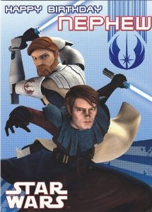 Star Wars Greeting Cards - 178 x 128mm - Clone Wars - Nephew - SW348/1
