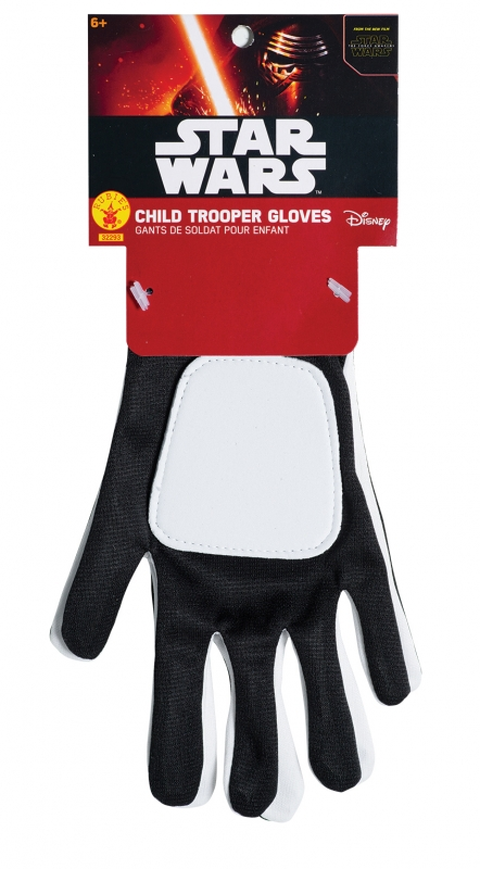 Star Wars Costume - The Force Awakens - First Order Stormtrooper Gloves - Kids