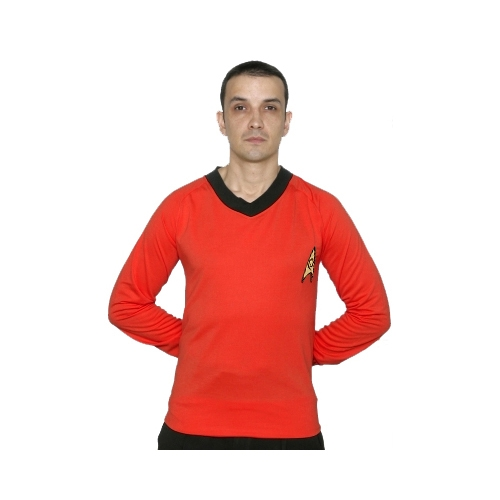 Star Trek Adult Costumes - Classic Scotty Red Shirt