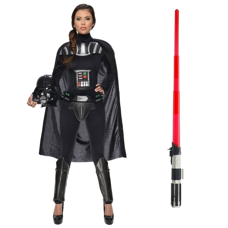 Star Wars Costume Adult Lightsaber Bundle - Ladies Darth Vader
