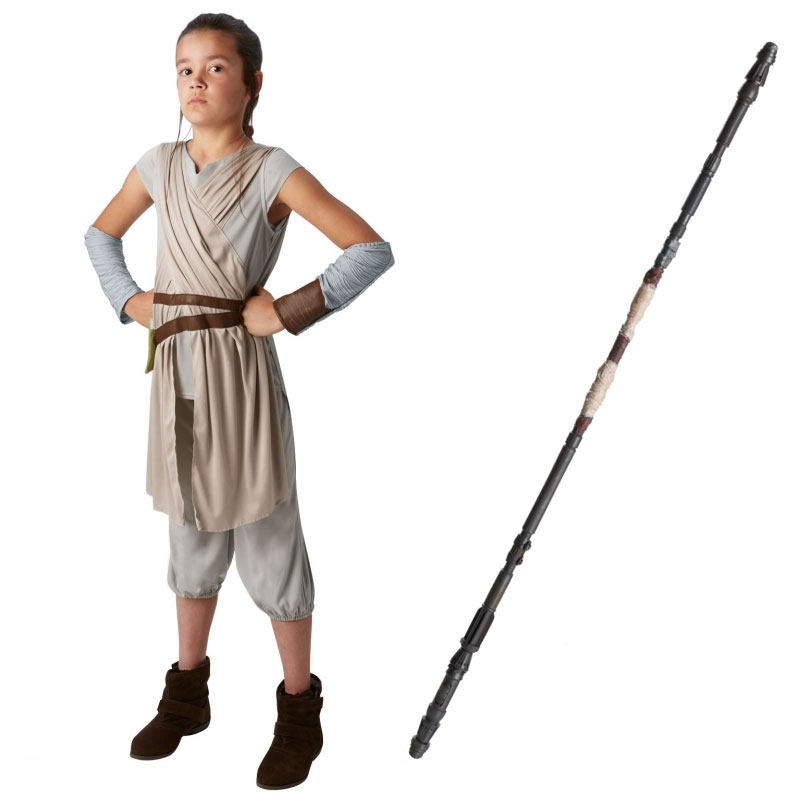 Star Wars Costume Child Staff Bundle - Rey