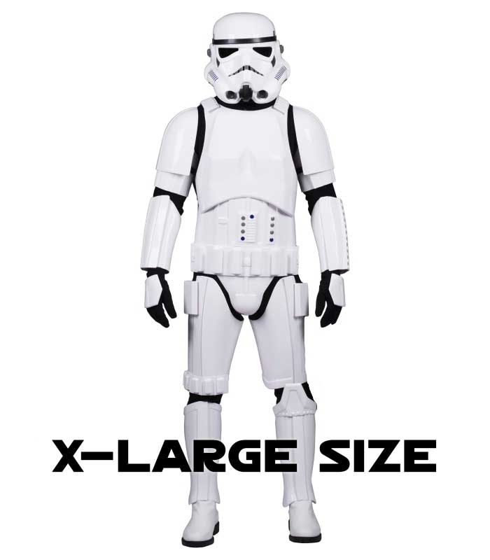 Star Wars Stormtrooper Costume Armour Fully Strapped with Soft Parts -  XL EXTENDED SIZE