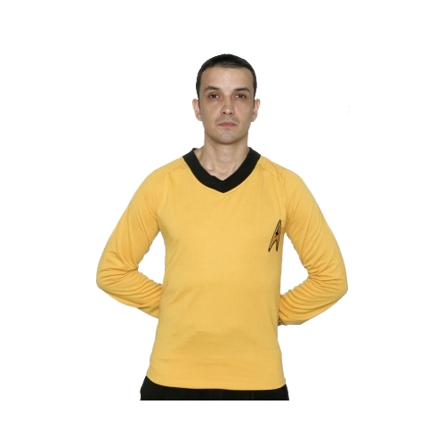 Star Trek Adult Costumes - Classic Captain Kirk Gold Shirt