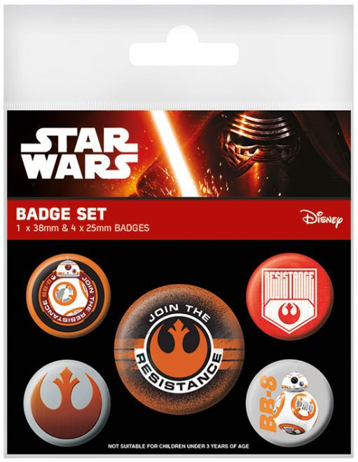 Star Wars Gifts and Games - Pin Badges 5-Pack - Episode VII Join The Resistance