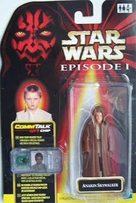 Star Wars Action Figure - Anakin Skywalker (Naboo) with Comlink - Episode 1 - with CommTech Chip