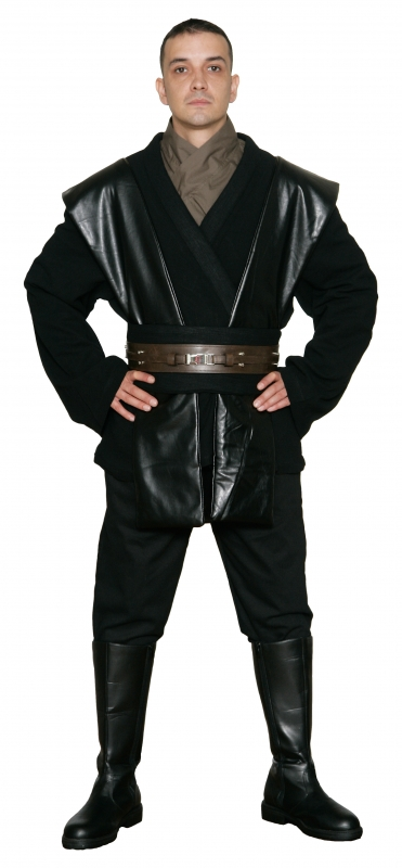 Boots+ from UK Star Wars Costume Bundle Belt Anakin Tunic Black Jedi Robe