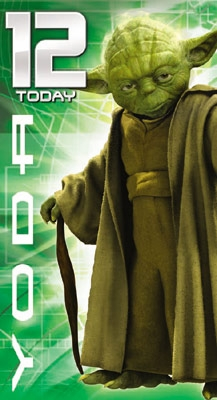 Star Wars Greeting Cards - 232 x 128mm - Clone Wars - Yoda - Age 12 - SW367