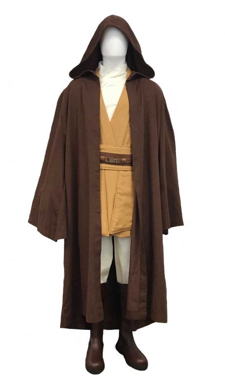 * Star Wars Mace Windu Jedi Costume - Body Tunic with Replica Dark Brown Robe