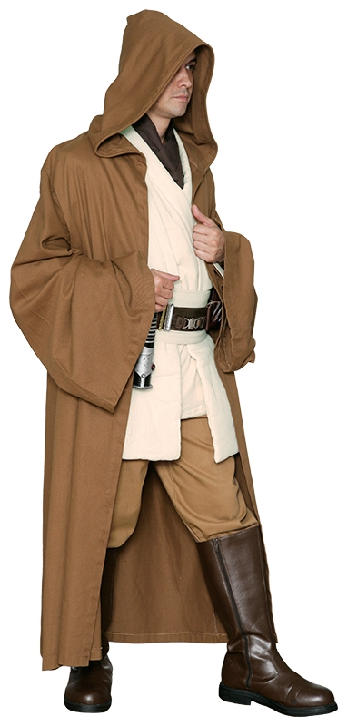 Star Wars Jedi Robe ONLY- Light Brown - Excellent Quality